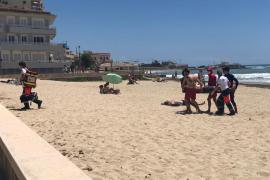 Rescatan a un surfista en Ciudad Jardín