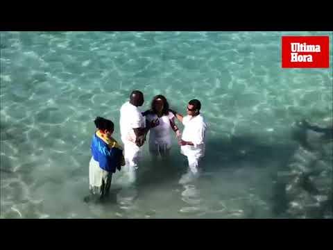 Bautismo en las aguas de Calvià