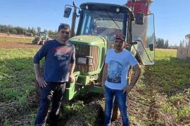 Jaume Mir y Biel Crespí: «La crisis ha afectado a la venta de exportación de la patata de sa Pobla»