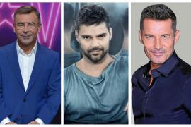 Jorge Javier Vázquez, Ricky Martin y Jesús Vázquez