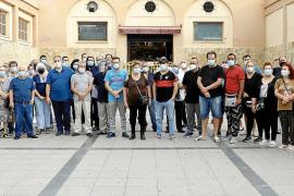 Protesta matinal en el Mercat de Pere Garau