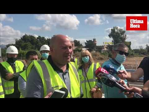 Protesta ecologista en la inauguración del acceso de Lloseta a la autopista