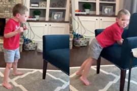 Los emotivos primeros pasos de un niño de 5 años con una enfermedad degenerativa