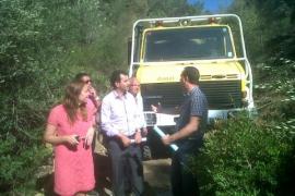 Continúa activo el incendio forestal de Son Caliu  tras quemar unas 70 hectáreas