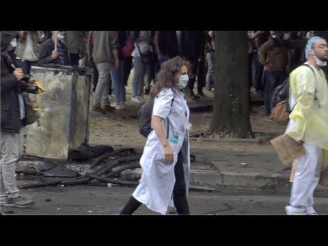 Polémica en Francia por la violenta detención de una enfermera
