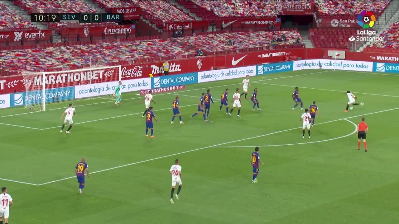 El Barça pincha en Sevilla y peligra su liderato