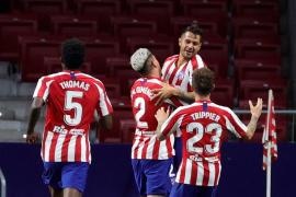 Vitolo guía al Atlético a la tercera plaza
