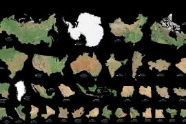 La espectacular infografía que muestra lo grande que es cada país del mundo
