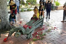 Los Ángeles se queda sin la estatua de Juníper, derribada por indígenas