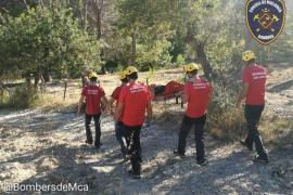 Rescate de un escalador accidentado en sa Gubia de Bunyola