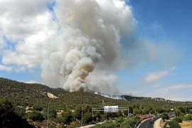 El incendio causa retrasos en Son Sant Joan que afectan a más de 17.000 pasajeros