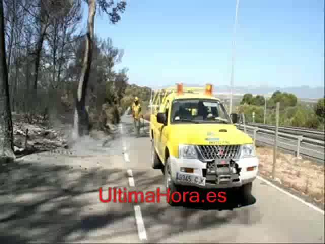 Dos detenidos tras una cadena de cinco incendios seguidos en zonas de Llucmajor