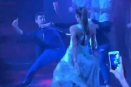 Un instante de la fiesta de Djokovic.