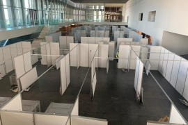 El hospital del hotel del Palacio de Congresos se desmonta