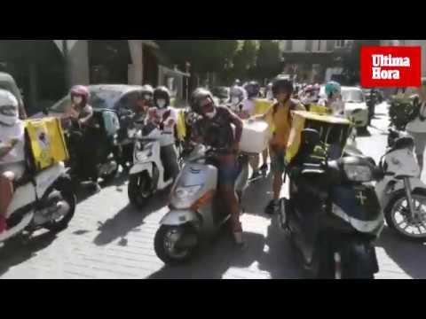 Los 'riders' se manifiestan en Palma
