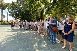 Protesta en Palma en defensa de los servicios públicos