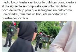 """Echenique, sobre la agresión a Rocío de Meer """"Sólo hizo falta un poco de ketchup para que se tragaran un bulo"""""""