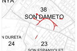 El Ajuntament de Palma destina 94.000 euros al cambio de pavimento de calles de Son Dameto