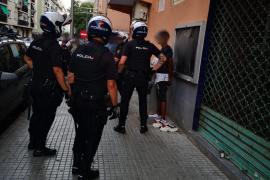 Dos detenidos en Palma con bolsas de marihuana, cocaína y heroína