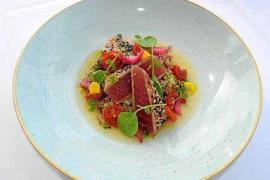 Taco de atún con quinoa