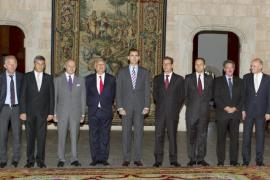 El príncipe Felipe recibe en audiencia a los ministros de Exteriores europeos