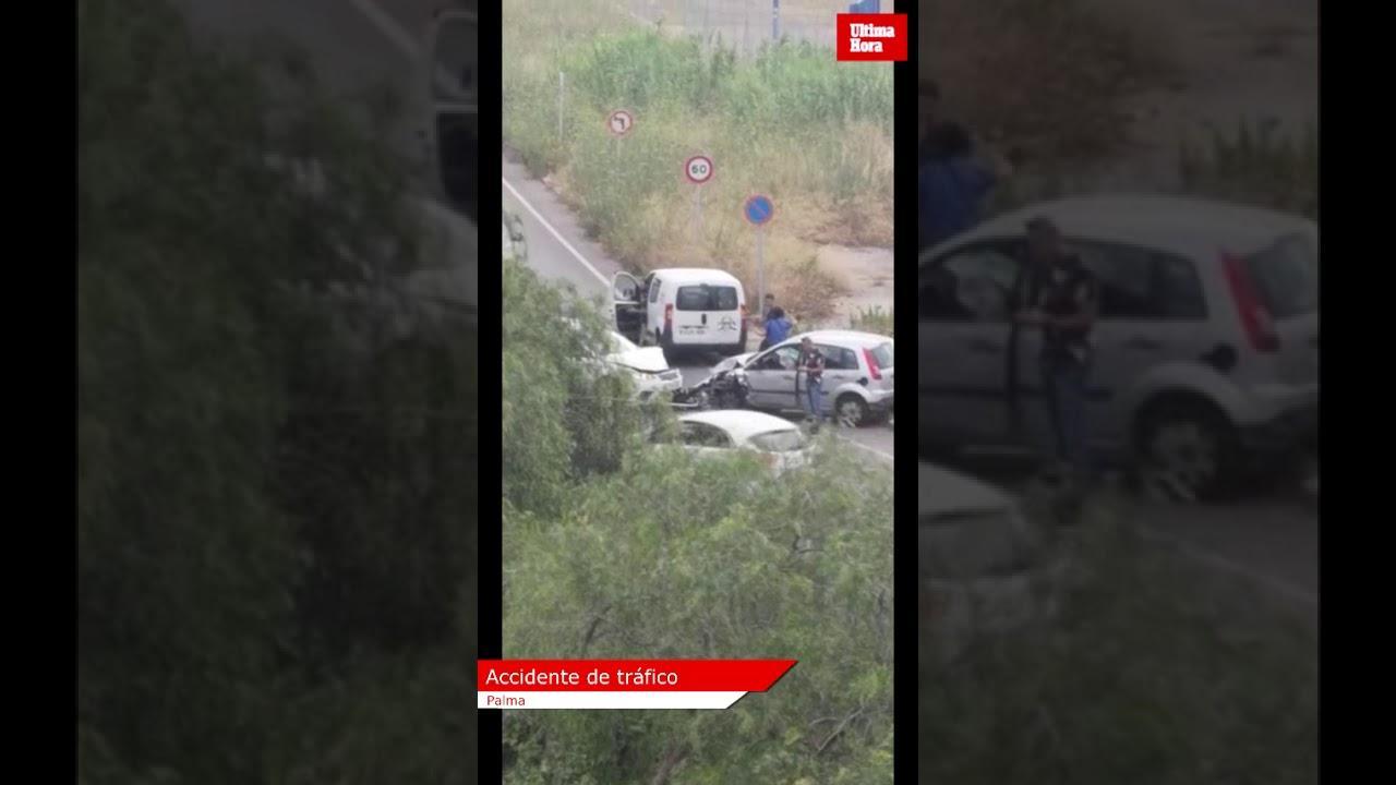 Colisión entre dos vehículos en Palma