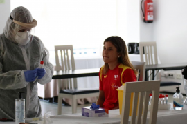 Iurani Blanco, concentrada con la selección española de ciclismo
