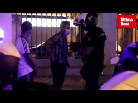 La policía sanciona a 126 jóvenes en los controles contra los botellones en Palma