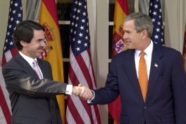 José María aznay y George Bush