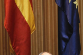 Former Bank of Spain Governor Fernandez Ordonez speaks during a parliamentary hearing at the Spanish parliament in Madrid