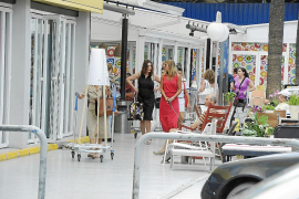 Carmen Rossi, de compras en Palma