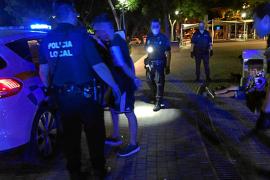 Imagen de las detenciones realizadas por la Policía la madrugada del domingo en el Parque de la Paz.