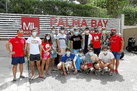 Jóvenes de A Coruña llegan a Mallorca para disfrutar de su viaje de estudios