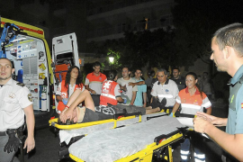 Un turista herido al caer desde un tercer piso cuando trepaba por la fachada de su hotel en Magaluf