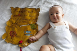 Eivissa Ortego Checa, la primera niña inscrita con el nombre de la isla