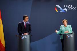 Sánchez y Merkel urgen a superar las «divergencias» sobre el fondo europeo