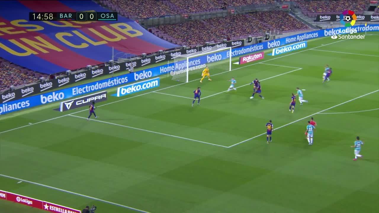 El Barcelona pierde ante el Osasuna la noche que dice adiós a la Liga