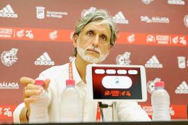 Pablo Alfaro, durante la rueda de prensa posterior al partido.