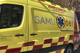 Un motorista, herido de gravedad en un accidente en Palma