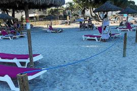 Denuncian la «privatización» de la playa de Alcúdia en la zona de concesión de las hamacas