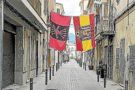 Banderas franquistas en sa Pobla