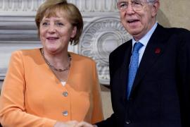Merkel y Monti se comprometen a  hacer todo lo posible para proteger la eurozona