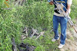 RECUPERADAS PARTE DE LAS ARMAS DE GUERRA ROBADAS EN UN CUARTEL DE BADAJOZ
