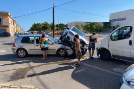 Tres heridos en un accidente en Son Ferriol