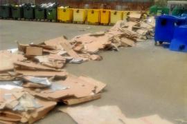 Multa de 6.000 euros por verter una tonelada de cartón en el Punt Verd de Santa Margalida
