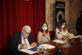 Kühne, Armengol y la consellera Pilar Costa