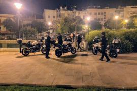 La policía levanta en Palma 51 actas por no usar mascarilla y 15 por botellón