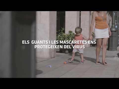 Campaña de Cort para evitar que se tiren guantes y mascarillas a la calle