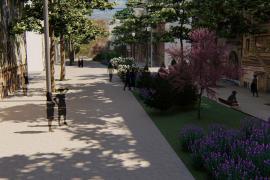 Cort incluye la plaza de las Columnas en el proyecto de peatonalización de Nuredunna