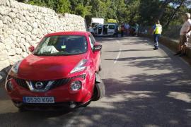 Un accidente en la carretera de Valldemossa provoca largas retenciones